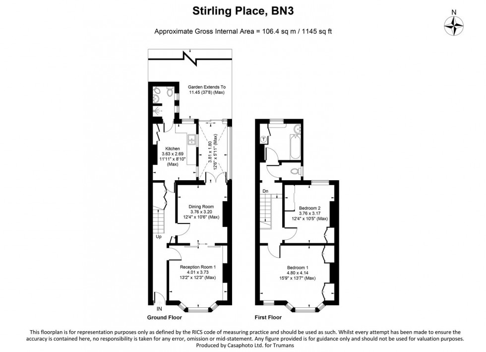 Floorplan for Stirling Place, Hove