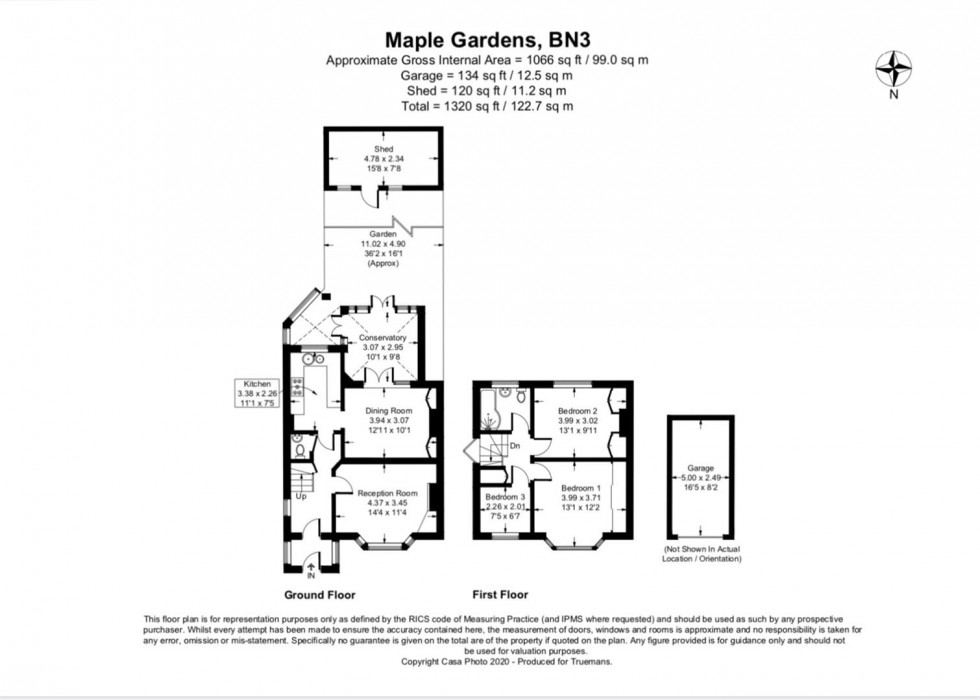 Floorplan for Maple Gardens, Hove