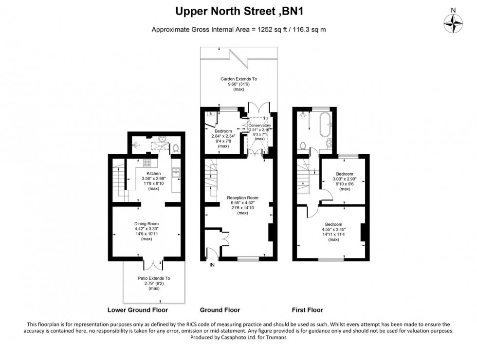 Floorplan for Upper North Street, Brighton