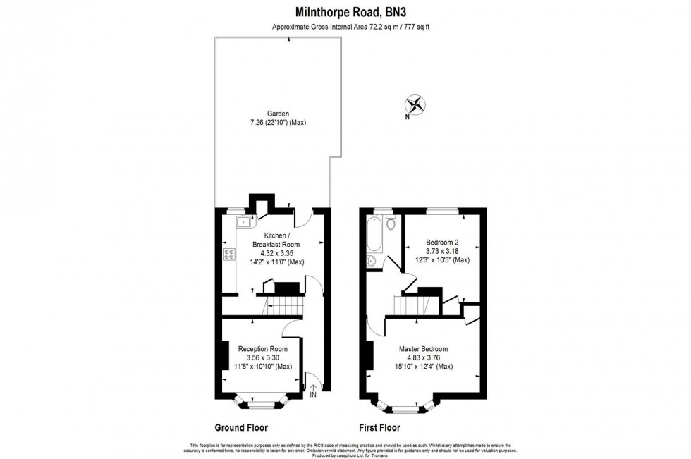 Floorplan for Milnthorpe Road, Hove