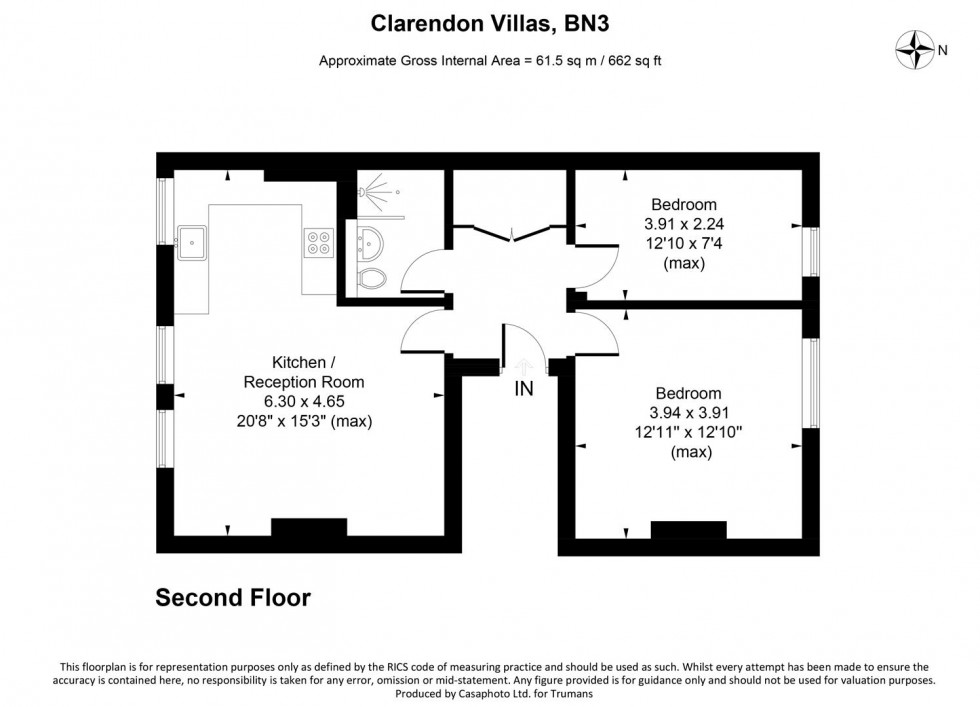 Floorplan for Clarendon Villas, Hove