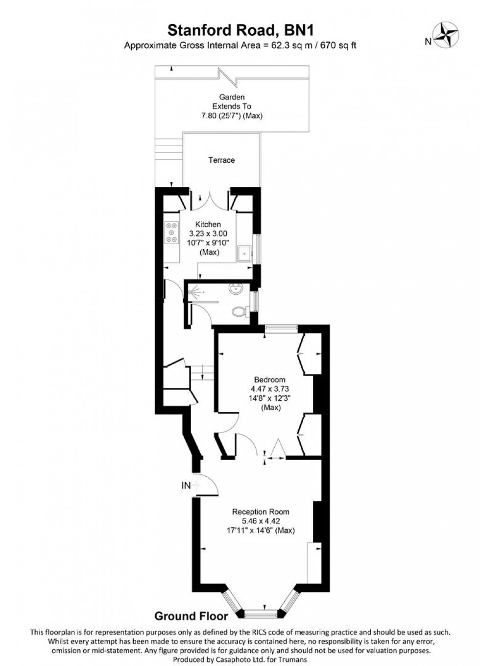 Floorplan for Stanford Road, Brighton