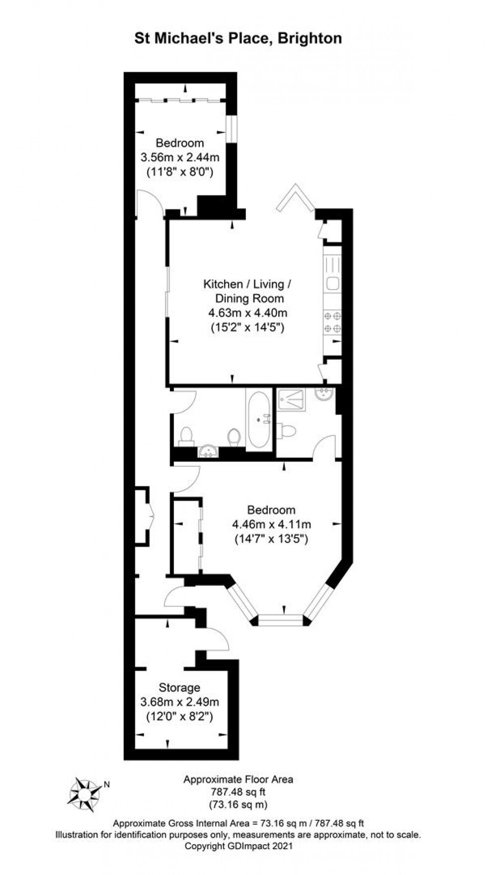 Floorplan for St. Michaels Place, Brighton