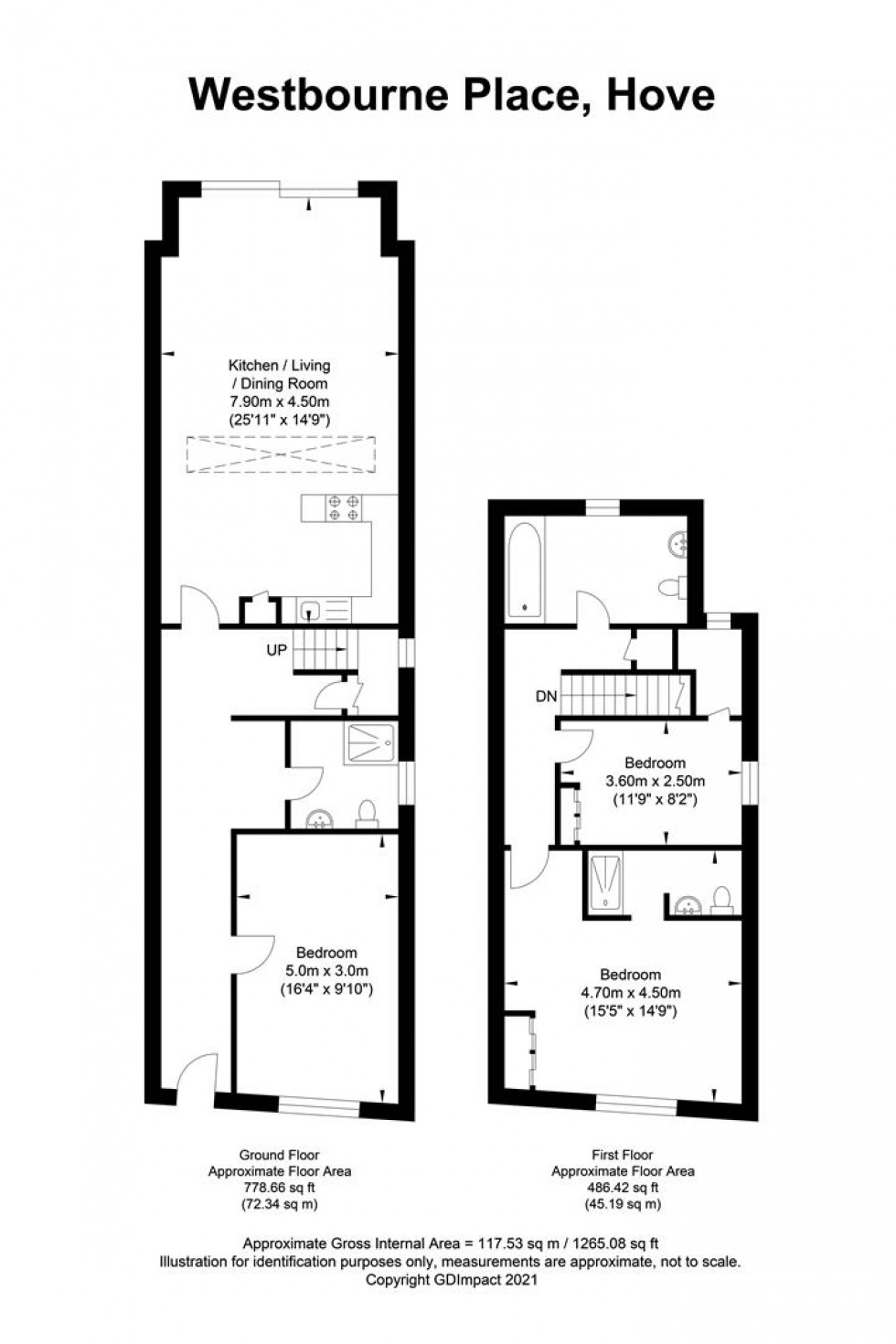 Floorplan for Westbourne Place, Hove